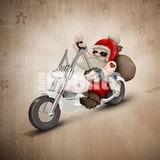 mikołaj na motocyklu